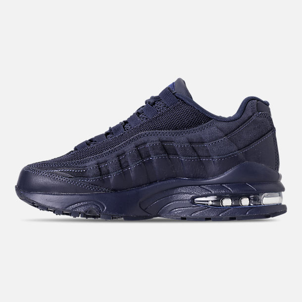 Left view of Boys' Grade School Nike Air Max 95 AMD Casual Shoes in Midnight Navy/Midnight Navy/Thunder