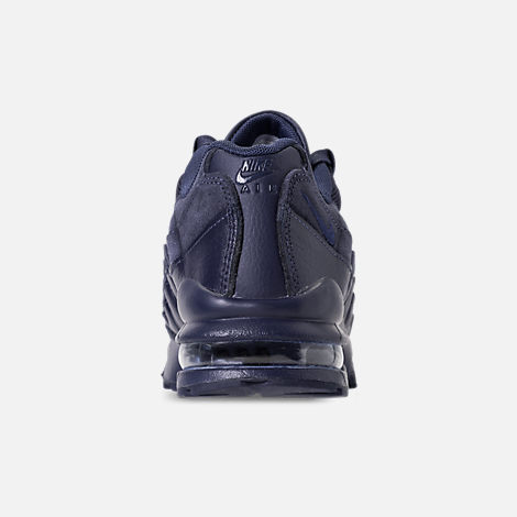 Back view of Boys' Grade School Nike Air Max 95 AMD Casual Shoes in Midnight Navy/Midnight Navy/Thunder