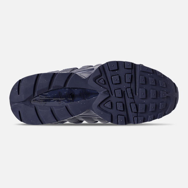 Bottom view of Boys' Big Kids' Nike Air Max 95 AMD Casual Shoes in Midnight Navy/Midnight Navy/Thunder
