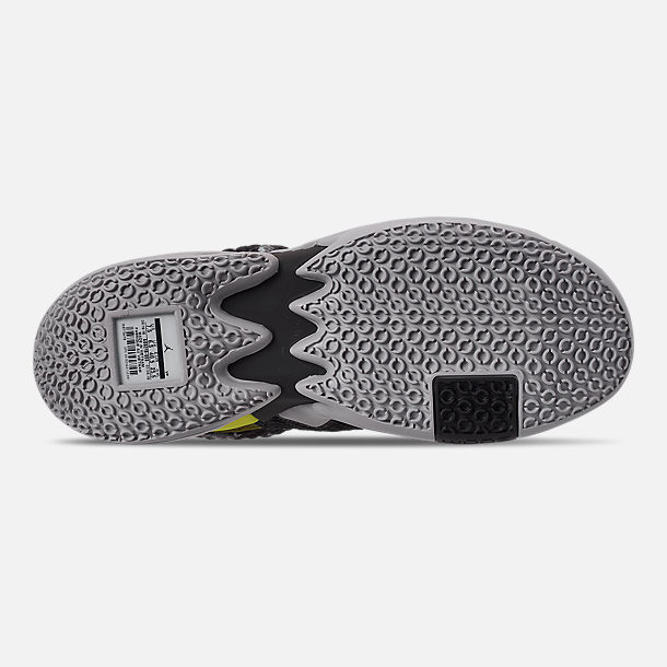 Bottom view of Men's Air Jordan Why Not Zer0.2 Basketball Shoes in Light Smoke Grey/Black