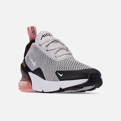 c80d0c25ff Three Quarter view of Girls' Little Kids' Nike Air Max 270 Casual Shoes in