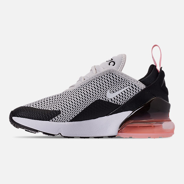 05cc58aab7 Left view of Girls' Little Kids' Nike Air Max 270 Casual Shoes in Platinum