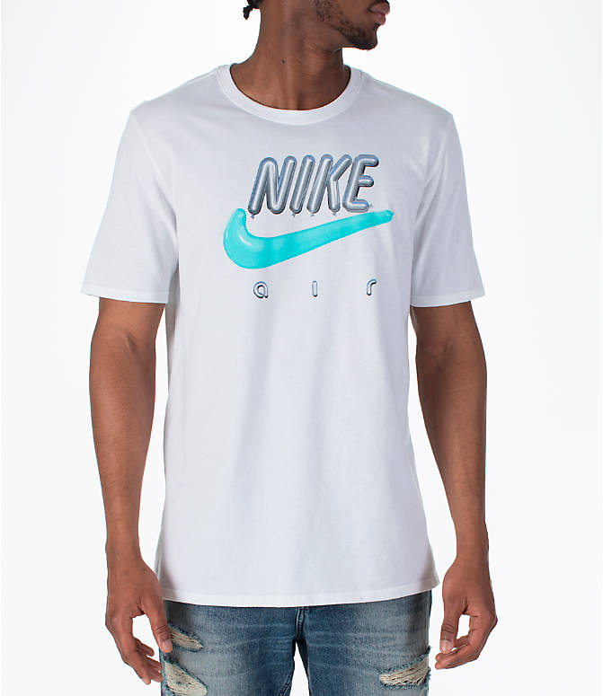 Front view of Men's Nike Sportswear Air Max T-Shirt in White