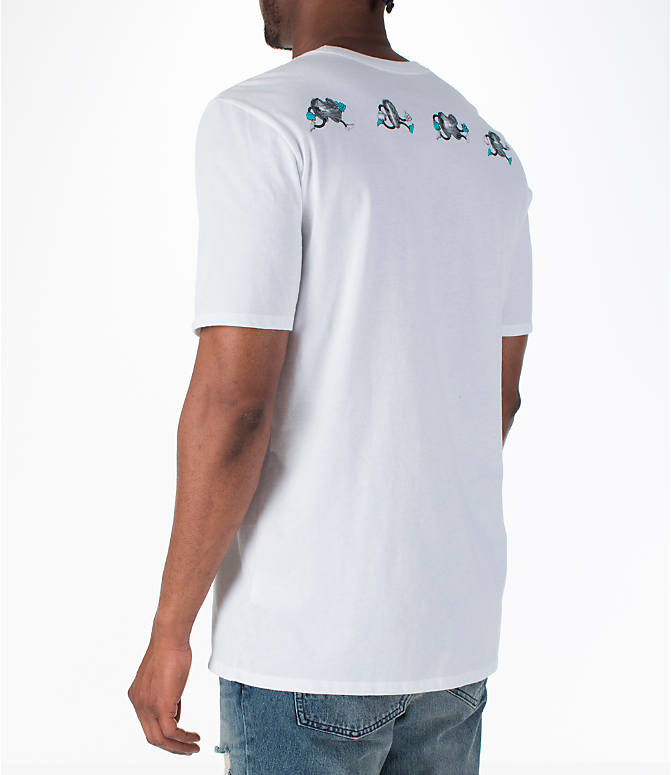 Back Left view of Men's Nike Sportswear Air Max T-Shirt in White