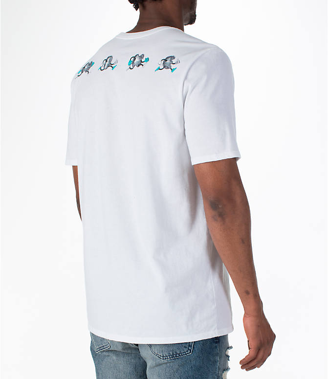 Back Right view of Men's Nike Sportswear Air Max T-Shirt in White