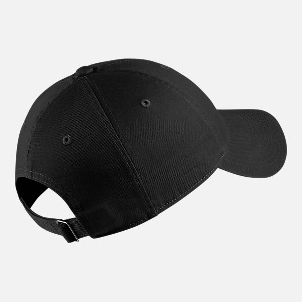Back view of Nike Sportswear Heritage86 Adjustable Back Hat in Black/White