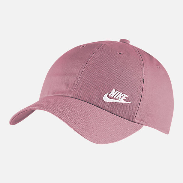 Front view of Nike Sportswear Heritage86 Adjustable Back Hat in Plum Dust/White