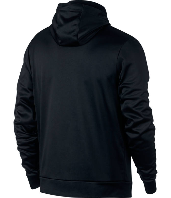 Back view of Men's Jordan Therma 23 Alpha Printed Training Pullover Hoodie in Black