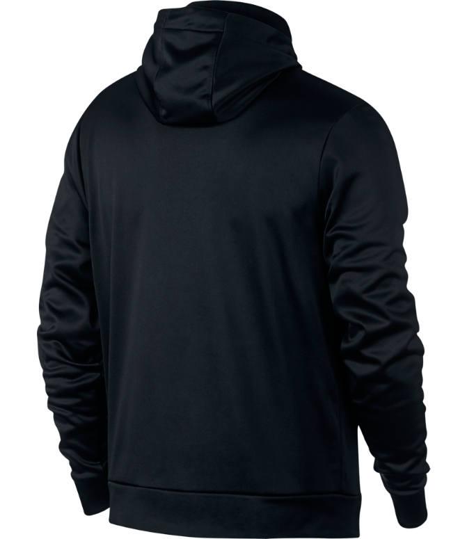 b6ae837a77d Back view of Men s Jordan Therma 23 Alpha Printed Training Pullover Hoodie  in Black