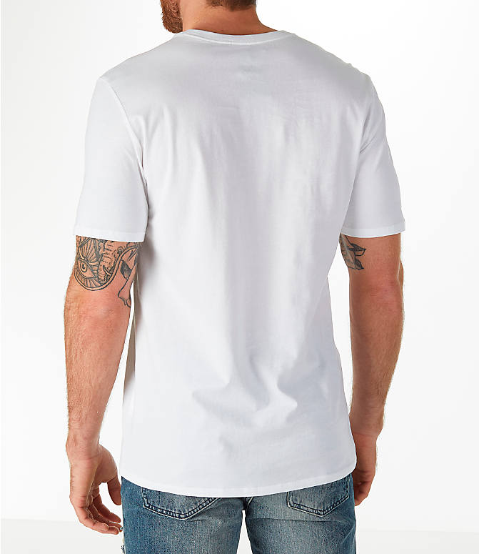 Back Left view of Men's Jordan Sportswear AJ3 Tinker T-Shirt in White