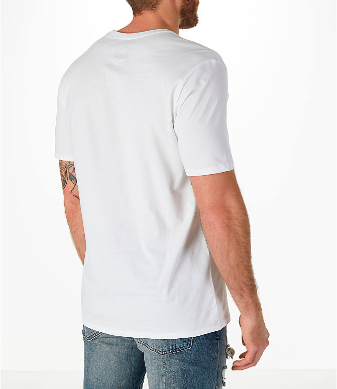 Back Right view of Men's Jordan Sportswear AJ3 Tinker T-Shirt in White