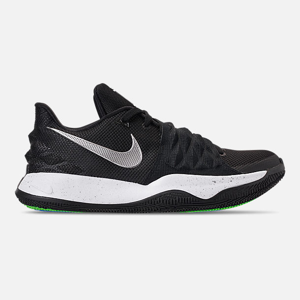 Right view of Men's Nike Kyrie Low Basketball Shoes in Black/Metallic Silver/White