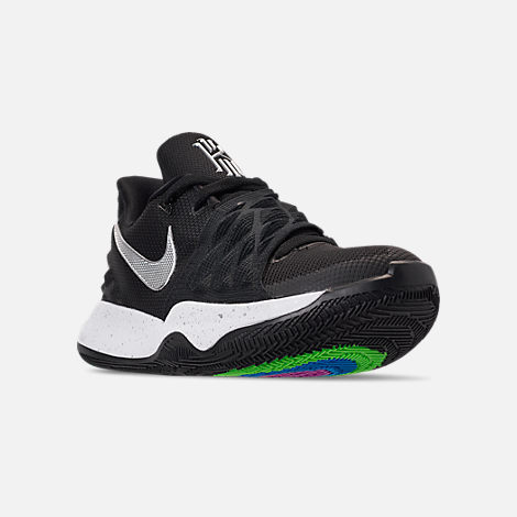 e7716fe88316 Three Quarter view of Men s Nike Kyrie Low Basketball Shoes in Black Metallic  Silver