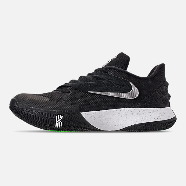 5e1b7af4be90 Left view of Men s Nike Kyrie Low Basketball Shoes in Black Metallic  Silver White