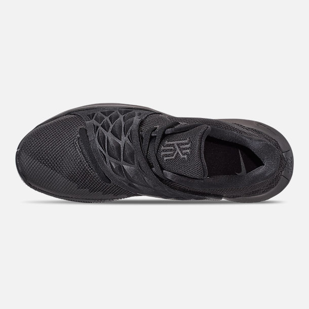 Top view of Men's Nike Kyrie Low Basketball Shoes in Black/Anthracite