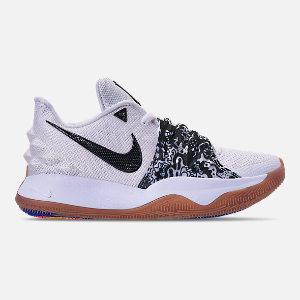 buy online c48e7 7fedf Right view of Men's Nike Kyrie Low Basketball Shoes in White/Black/Gum