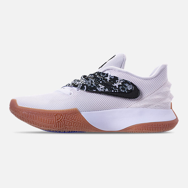 fa9024fbf6e Left view of Men s Nike Kyrie Low Basketball Shoes in White Black Gum