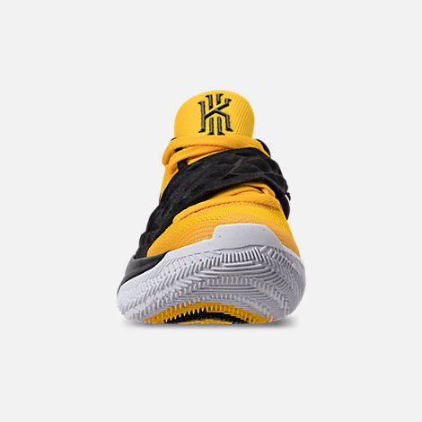 Front view of Men's Nike Kyrie Low Basketball Shoes in Amarillo/Black