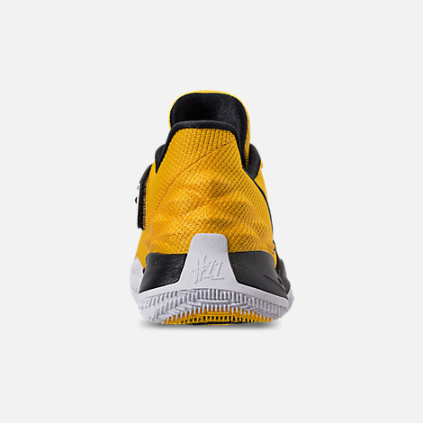 Back view of Men's Nike Kyrie Low Basketball Shoes in Amarillo/Black