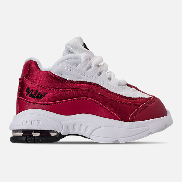 Right view of Girls' Toddler Nike Air Max 95 SE Casual Shoes in Red Crush/Red Crush/White/Black