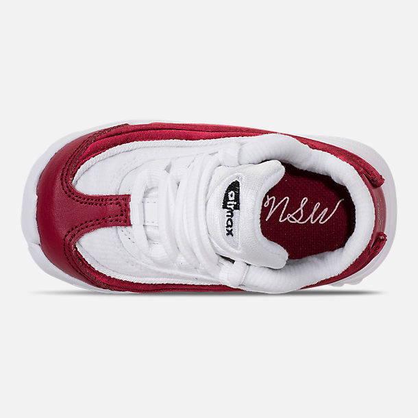 Top view of Girls' Toddler Nike Air Max 95 SE Casual Shoes in Red Crush/Red Crush/White/Black