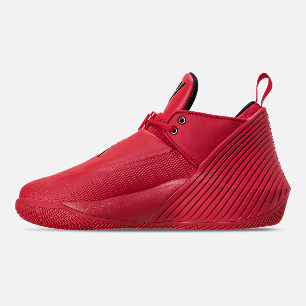 Left view of Big Kids' Air Jordan Why Not Zer0.1 Low Basketball Shoes in University Red/Black