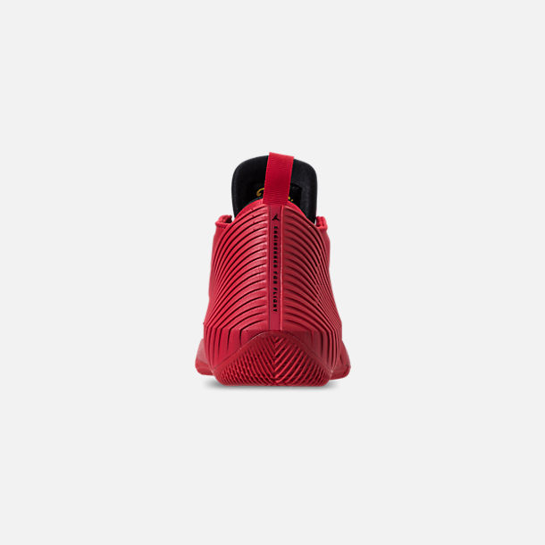 Back view of Big Kids' Air Jordan Why Not Zer0.1 Low Basketball Shoes in University Red/Black