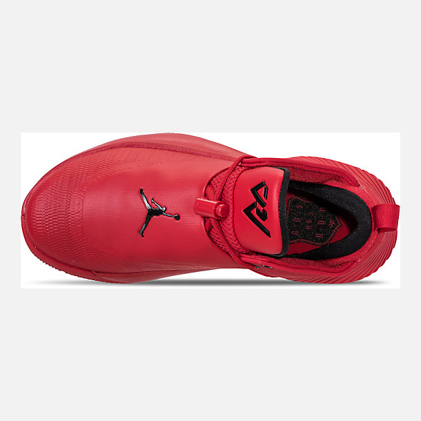 Top view of Big Kids' Air Jordan Why Not Zer0.1 Low Basketball Shoes in University Red/Black