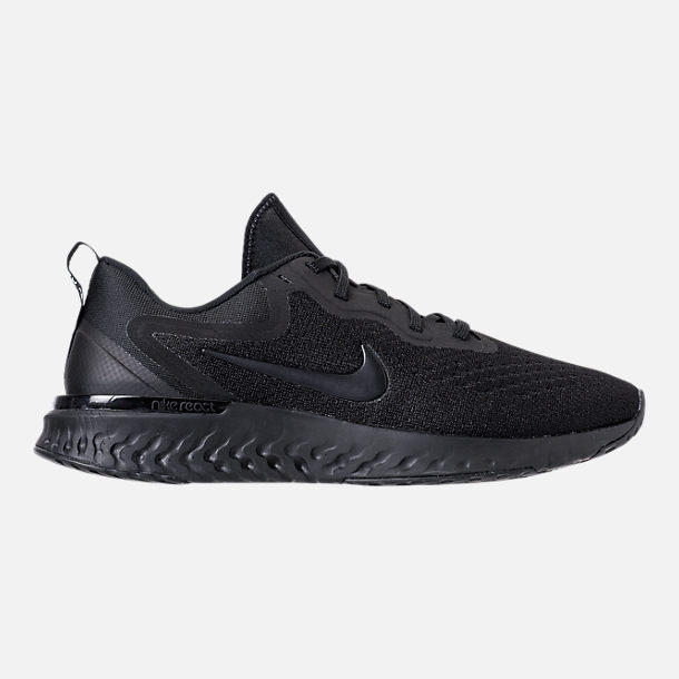Right view of Men's Nike Odyssey React Running Shoes in Triple Black
