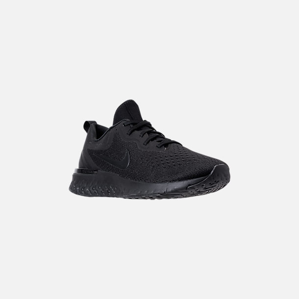 Three Quarter view of Men's Nike Odyssey React Running Shoes in Triple Black