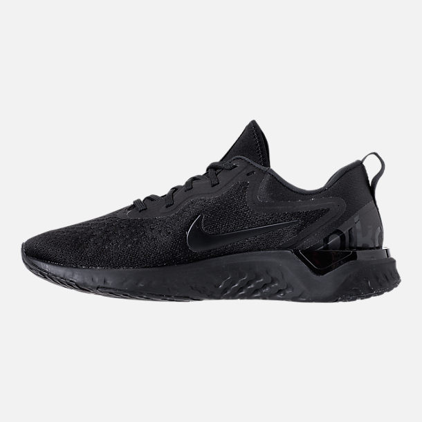 Left view of Men's Nike Odyssey React Running Shoes in Triple Black