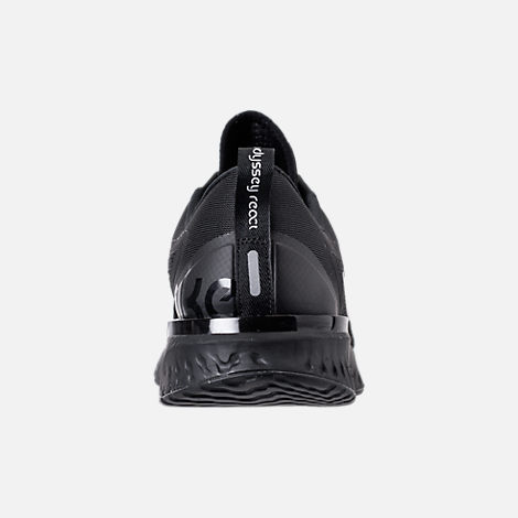 Back view of Men's Nike Odyssey React Running Shoes in Triple Black