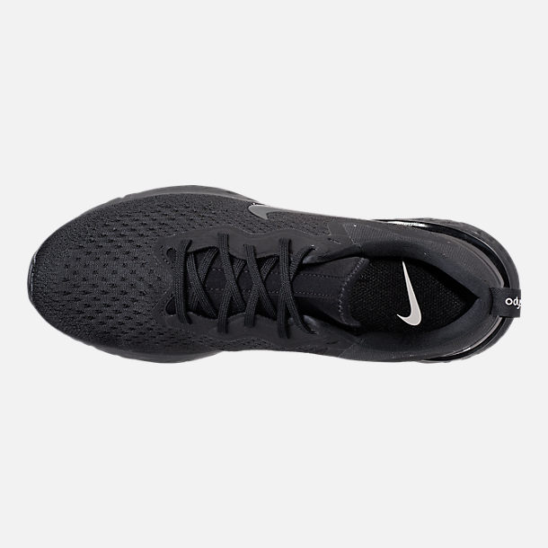 Top view of Men's Nike Odyssey React Running Shoes in Triple Black