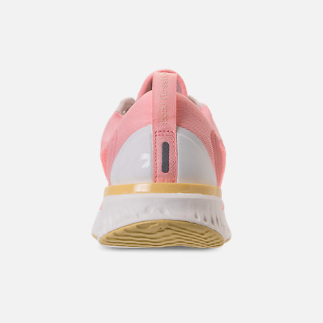 Back view of Women's Nike Odyssey React Running Shoes in Desert Sand/Sail/Light Atomic Pink