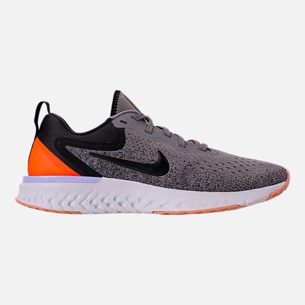 Right view of Women's Nike Odyssey React Running Shoes in Gunsmoke/Black/Twilight Pulse/Vast Grey