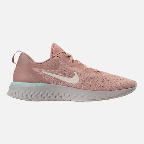 Right view of Women's Nike Odyssey React Running Shoes in Particle Beige/Phantom/Diffused Taupe
