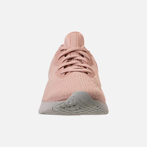Front view of Women's Nike Odyssey React Running Shoes in Particle Beige/Phantom/Diffused Taupe