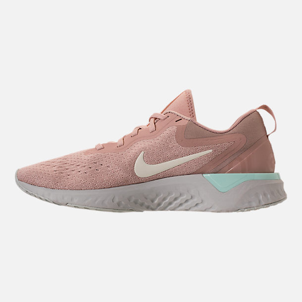 Left view of Women's Nike Odyssey React Running Shoes in Particle Beige/Phantom/Diffused Taupe