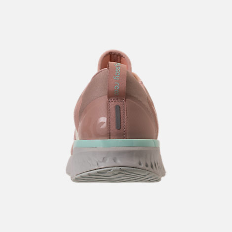 Back view of Women's Nike Odyssey React Running Shoes in Particle Beige/Phantom/Diffused Taupe