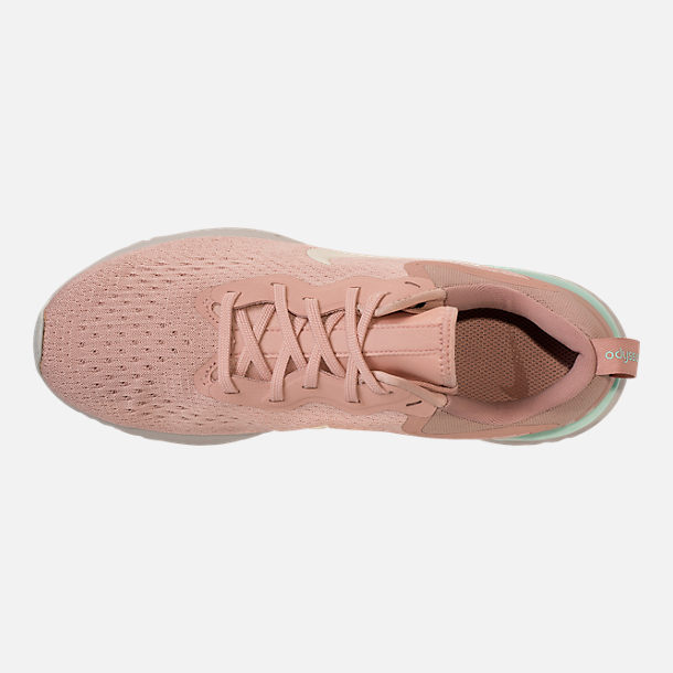Top view of Women's Nike Odyssey React Running Shoes in Particle Beige/Phantom/Diffused Taupe