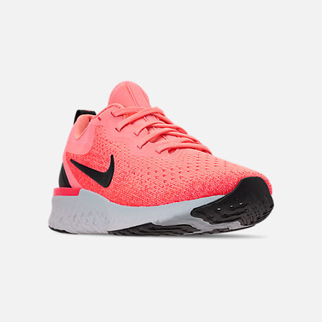 02293a352b7e Three Quarter view of Women s Nike Odyssey React Running Shoes in Light  Atomic Pink Black