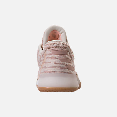 Back view of Men's adidas Harden Vol.1 Basketball Shoes in Ashpea/Chalk White/Footwear White