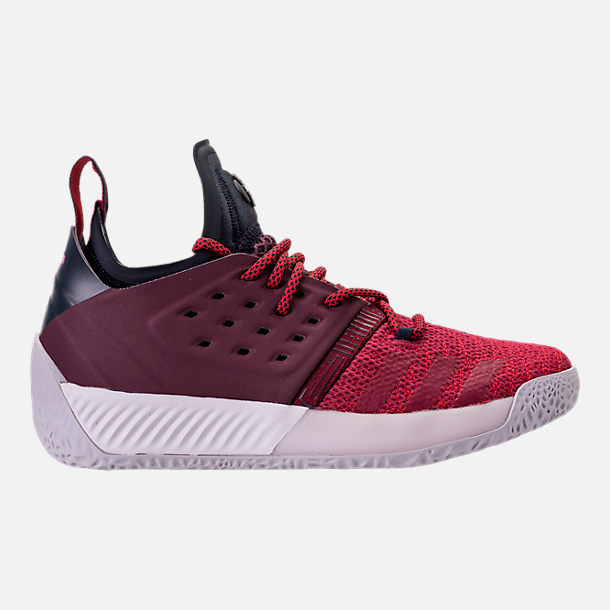 Right view of Boys' Grade School adidas Harden Vol. 2 Basketball Shoes in Legend Ink/Mystery Ruby