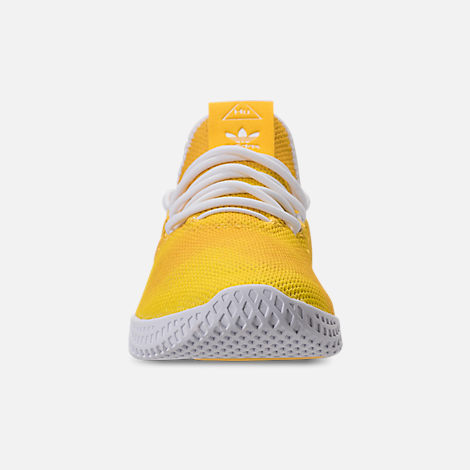 Front view of Boys' Grade School adidas Originals Pharrell Williams Tennis HU Casual Shoes in Borang/Footwear White