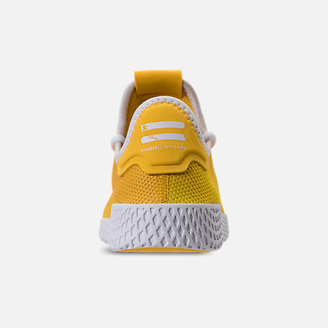 Back view of Boys' Grade School adidas Originals Pharrell Williams Tennis HU Casual Shoes in Borang/Footwear White