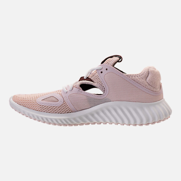 Left view of Women's adidas Run Lux Clima Running Shoes in Orchid Tint/White/Night Red