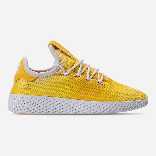 Right view of Boys' Little Kids' adidas Originals Pharrell Williams Tennis HU Casual Shoes in Bright Orange/Footwear White