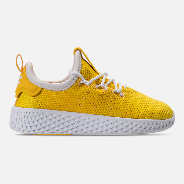 Right view of Boys' Toddler adidas Originals Pharrell Williams Tennis HU Casual Shoes in Bright Orange/Footwear White