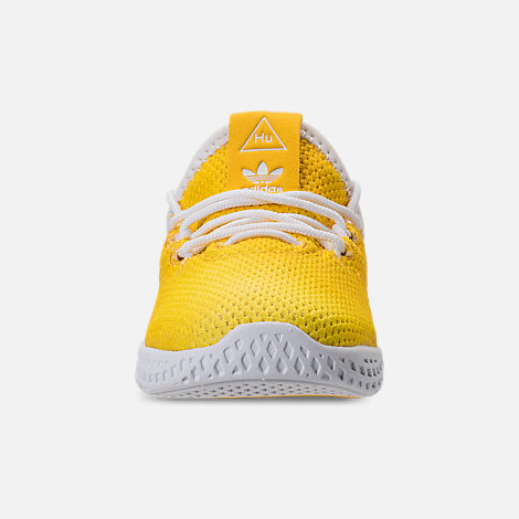 Front view of Boys' Toddler adidas Originals Pharrell Williams Tennis HU Casual Shoes in Bright Orange/Footwear White