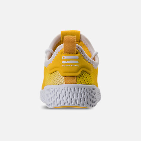 Back view of Boys' Toddler adidas Originals Pharrell Williams Tennis HU Casual Shoes in Bright Orange/Footwear White